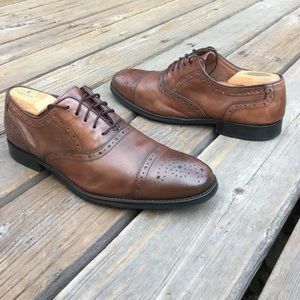 JOHNSTON & MURPHY TYNDALL Leather Cap Toe Shoes